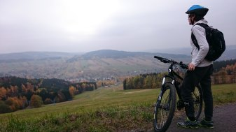 bicycle view of valley