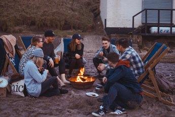 Group around fire