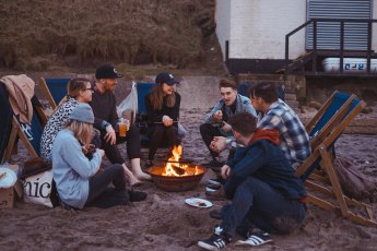 Group around fire