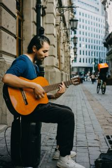 guitar on street