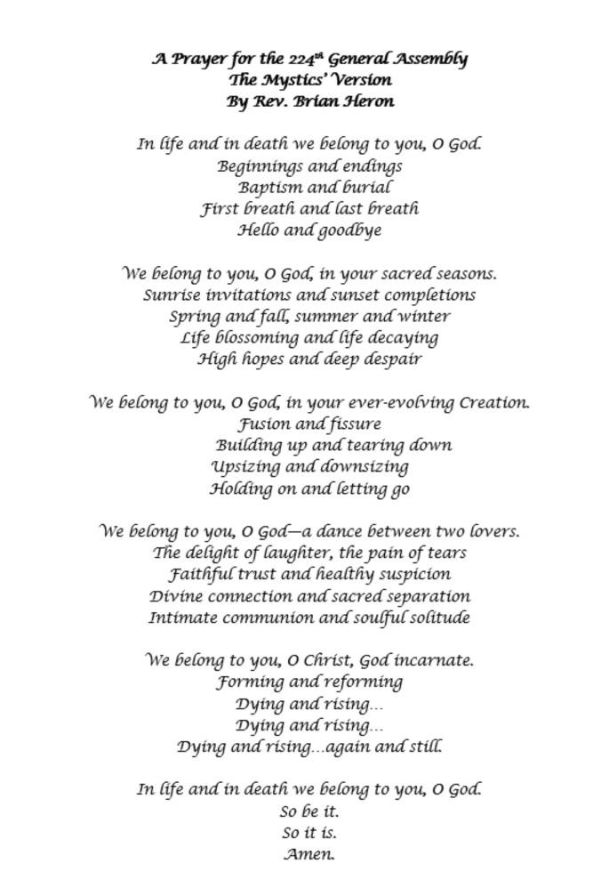 GF prayer