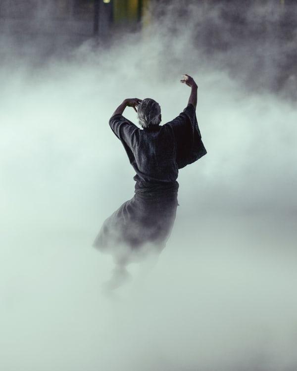 dancer in smoke