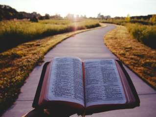 Bible on road
